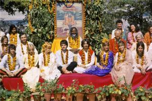 The Fabs in Rishikesh, India with the Maharishi (aka Sexy Sadie)