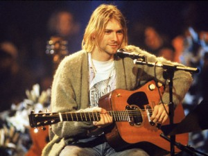 Kurt in his prime.... and his Mum's cardigan!