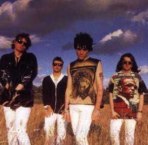 The Manics after the white jeans sale at Primark