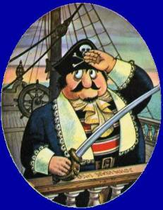 Captain Pugwash looking for some overpriced CDs to steal