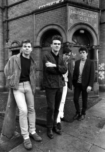 The Smiths outside the Salford Lads Club