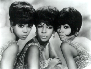 The Supremes (left to right) Florence Ballard, Mary Wilson, Diana Ross