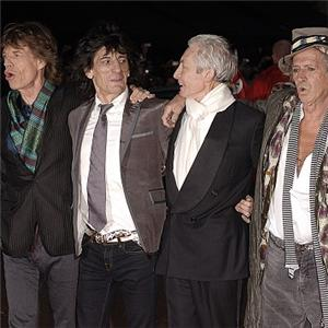 Clearly no one had told new boy Ronnie Wood about the no ties rule