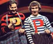 "The Pipkins play human scrabble aor go to a fancy dress party as two ""P""s in a pod!"