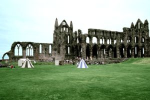 Whitby Abbey, it'll look good when it's finished won't it?