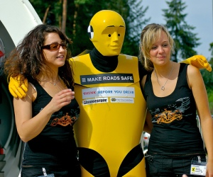 In the early days the band even dressed as Crash test Dummies and it certainly didn't harm their pulling power judging from this picture