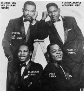 By 1959 Ben E King clearly couldn't be bothered to tour. As for Dock Green is he anything to do with Dixon?