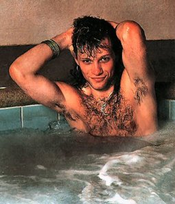Jon's hair transplant was a moderate success, he had wanted more on his head really. Oh nad please, no searches for naked Jon BonJovi as a result of this picture ok?