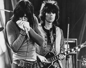 Mick knew he would never be as good a guitar player as Keef, but he would always be the best at making fart noises with his microphone