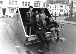 The Pistols had been banned from so many venues they resorted to playing in rubbish skips!