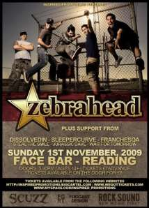 Check out Steal the Smile on the Zebrahead poster