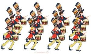 12 drummers drummingpsddd