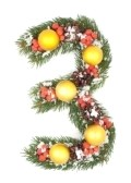 8162440-number-3--christmas-tree-decoration--part-of-a-full-set