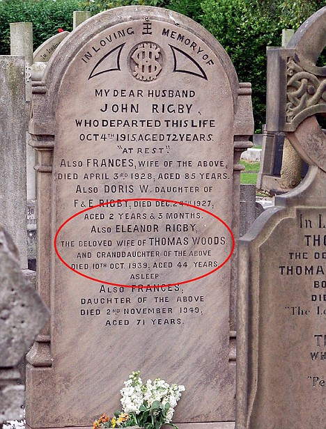 eleanor rigby headstone