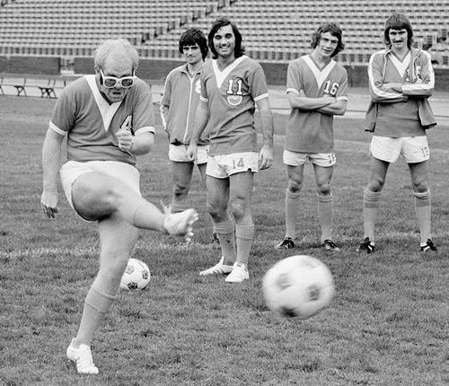 Elton's got balls!