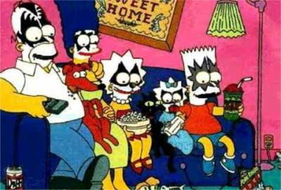 simpsons as Kiss
