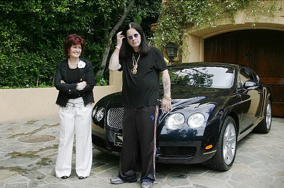 ozzy and sharon and car