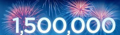 1,500,000 hits in six years! Thank you dear readers! | With Just A Hint Of  Mayhem