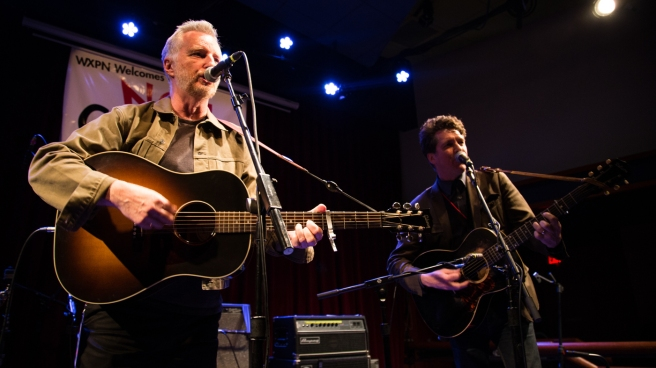 Billy Bragg and Joe Henry perform live at the 2016 Non-COMMvention in Philadelphia.